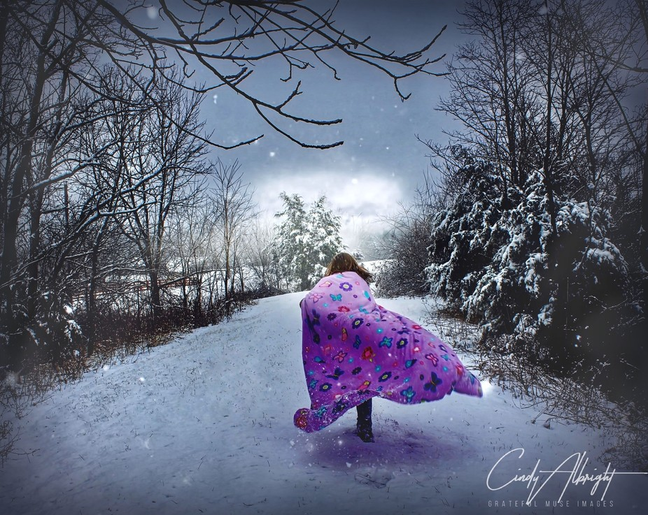 The Snow Princess heads home after a day filled with Winter Fantasies.