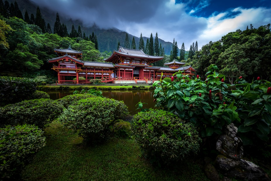 Byodo-In Buddhist Temple, Oahu, Hawaii. More at a-mills.com!