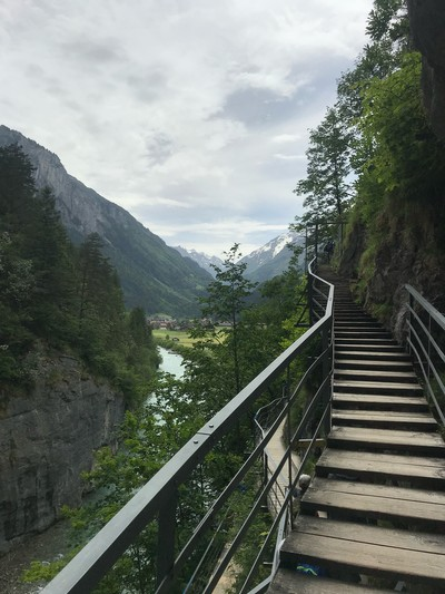 Grindelwald Aare Gorge Switzerland amazing view! Stairway to Heaven