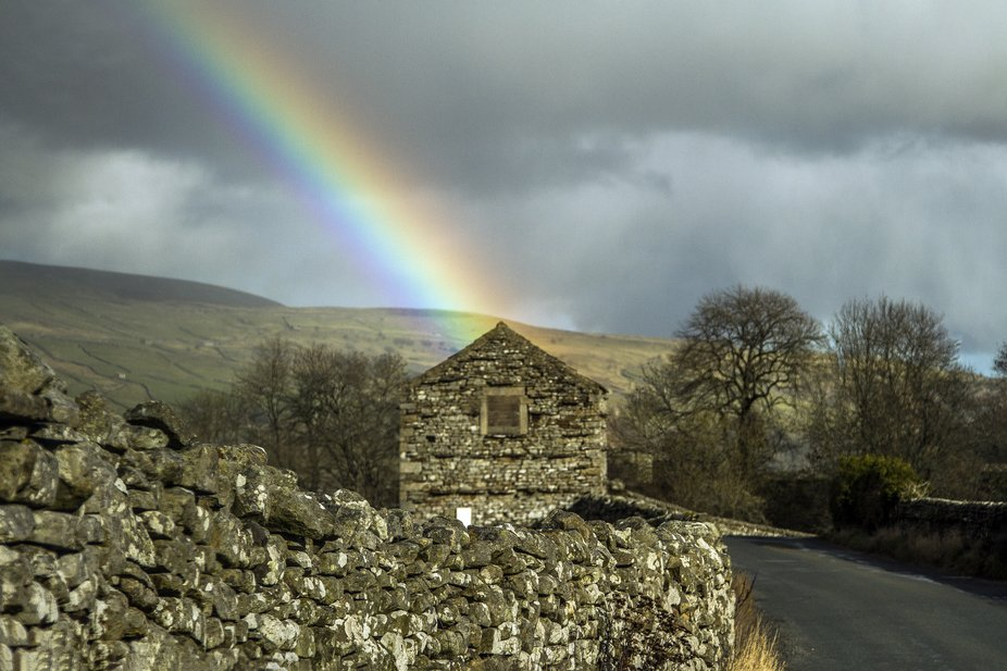 Is there really a crock of gold inside the barn?  Seeing as the end of the rainbow stops there? I...