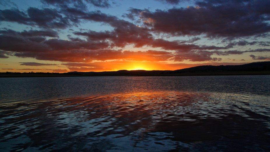 Sunset Over Leslie Dam