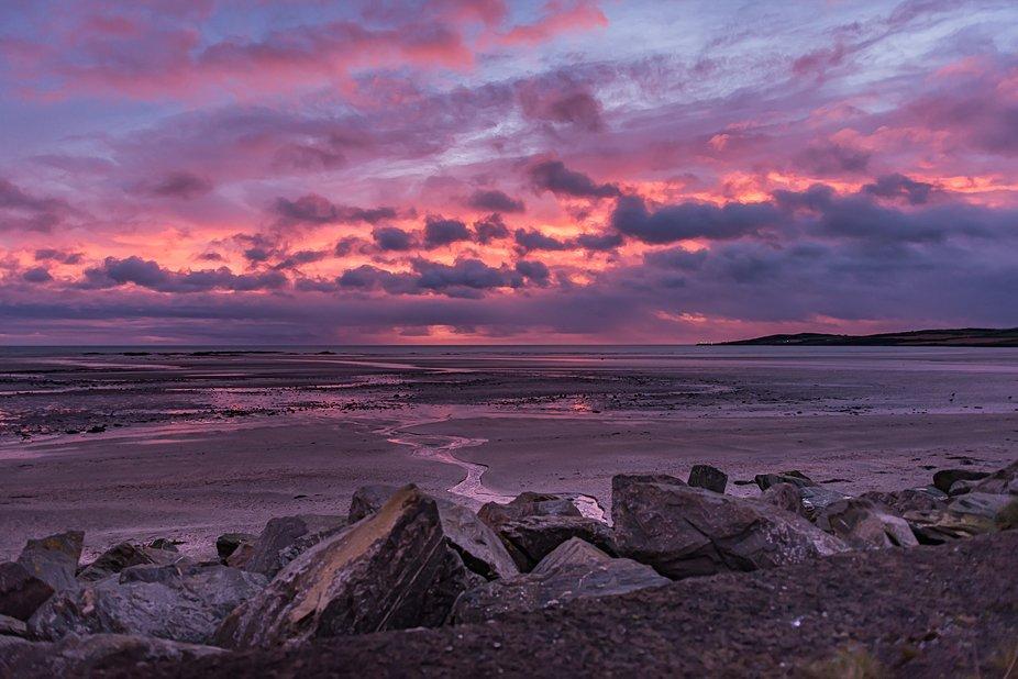 Beautiful morning over the Irish Sea