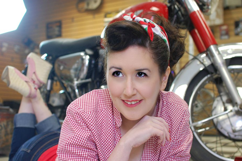 Styled shoot at an old motorcycle shop in the sticks.
