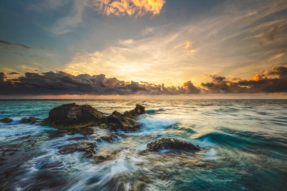Sunrise at Punta Sur, Isla Mujeres, Quintana Roo, Mexico . February 2018