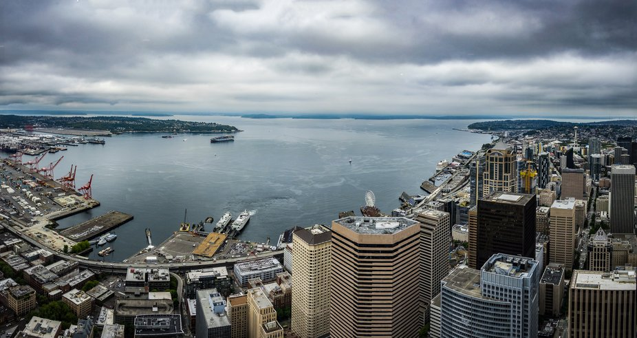 The Columbia Tower offers a spectacular view of Seattle and the Puget Sound