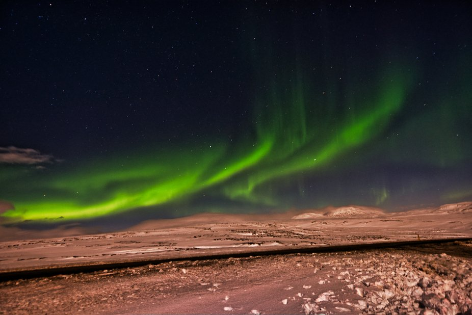 It was taken in the middle of nowhere in the freezing  weather in Iceland