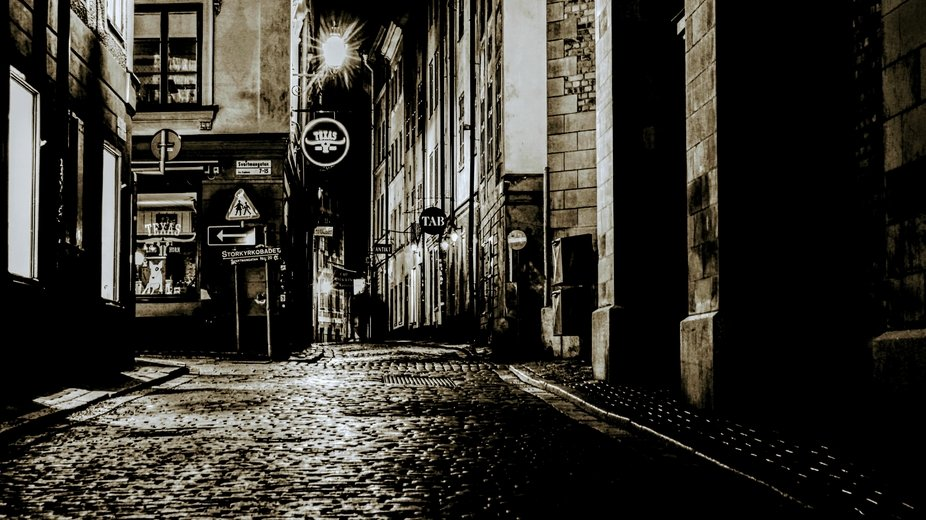 Old town in Stockholm. First night photo, second day with camera:) Before i shot just smartphon ...