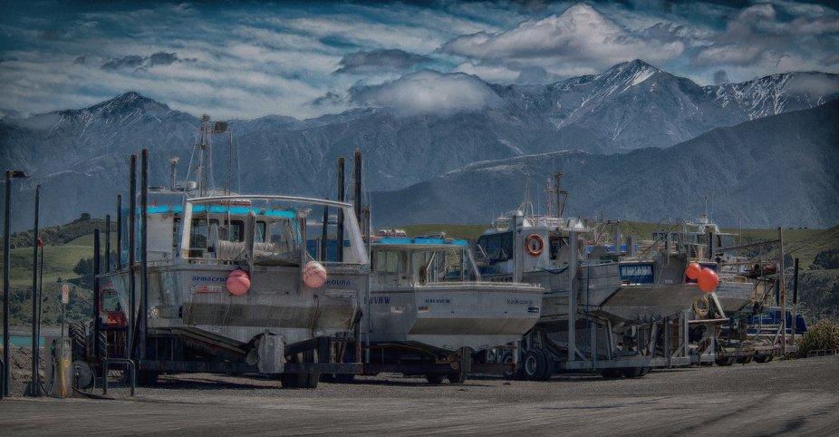 Boats at Kaikoura_HDR
