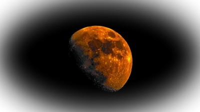 Flaming moon edit