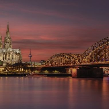 Sunset over the Cathedral of Cologne