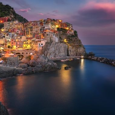 Blue Hour over Cinque Terre