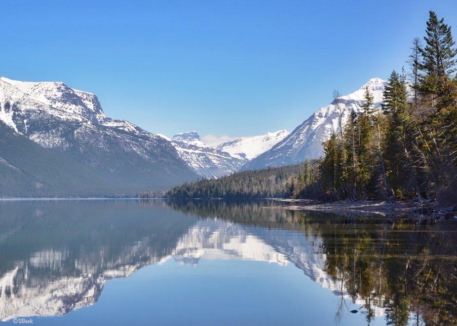 Glacier National Park, Lake McDonald on a clear morning.