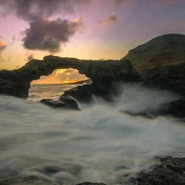 Stone arch in an area called Charco Manso, in El Hierro, Canary Islands