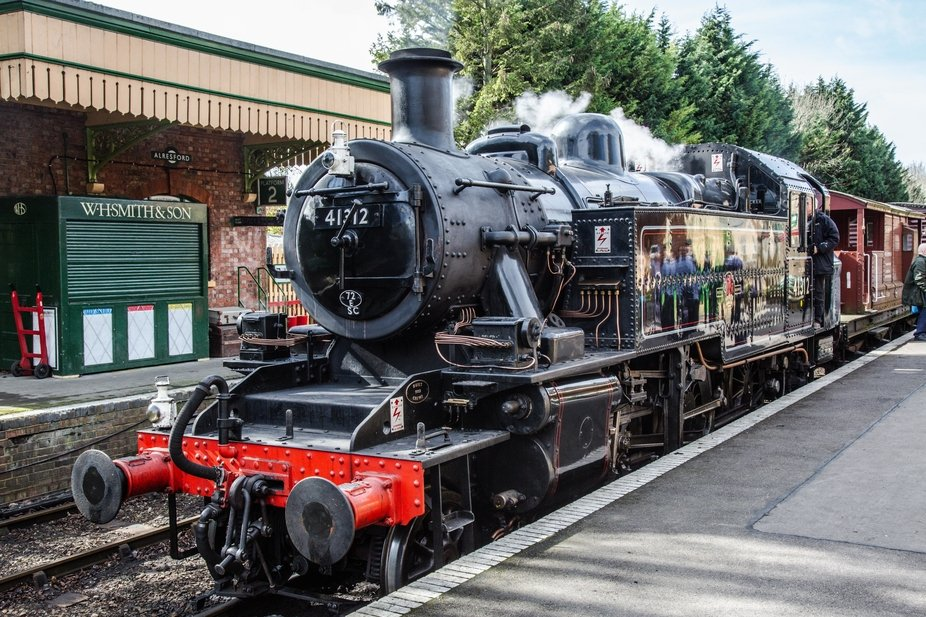 The London, Midland and Scottish Railway (LMS) Ivatt Class 2 2-6-2T is a class of light &#039...