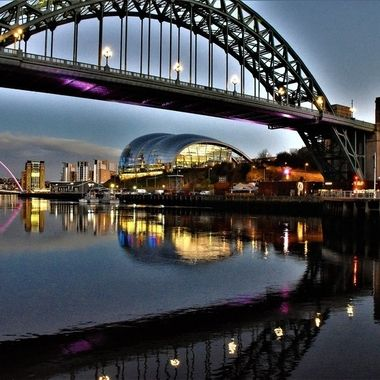Lots of points of View on a winter evening at Newcastle's Quayside loving the reflections
