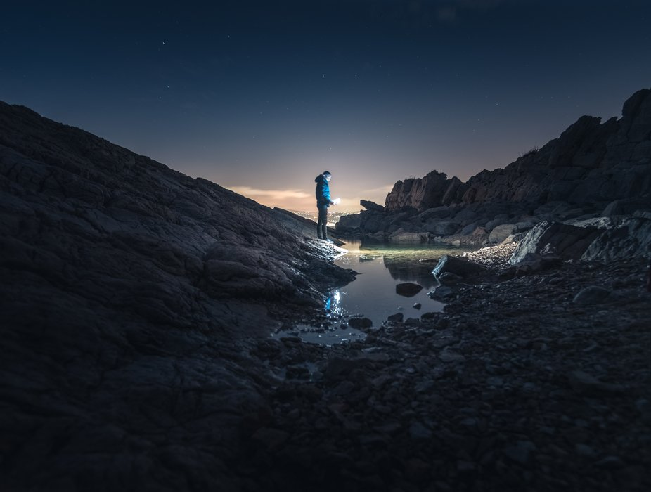 Alone at night - Cap d'Antibes, France  #NikonD750 + 24-120 f4 ( iso1600 24mm f4 10sec) ...