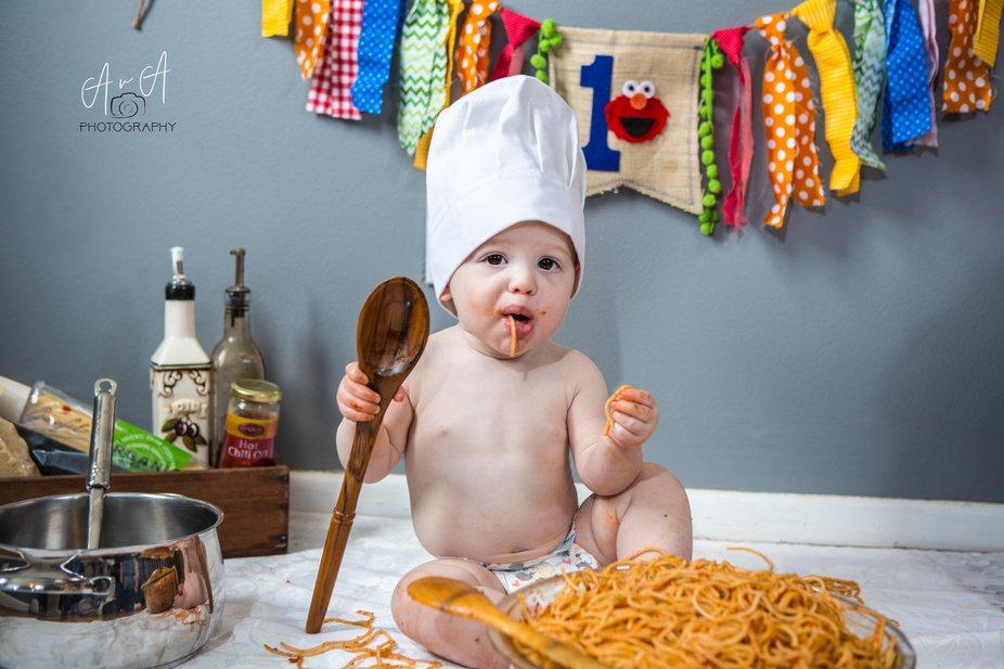 "First Birthday ""Spaghetti Smash"""