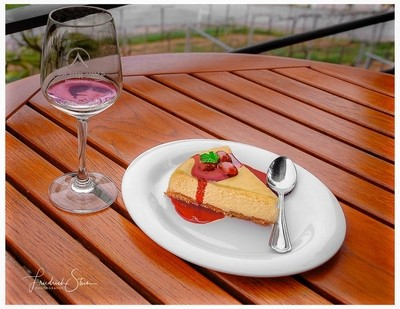 A little Wine and Cheesecake