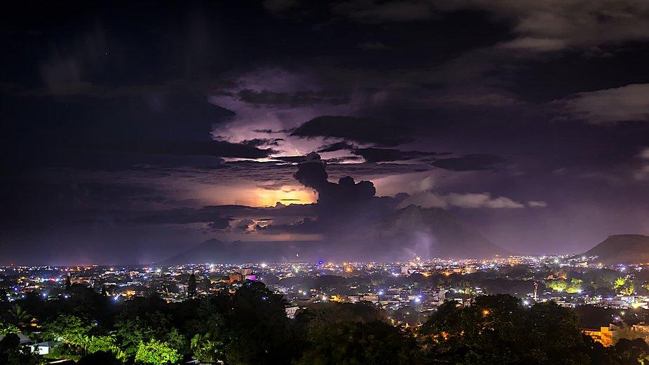 Citylights and Lightning
