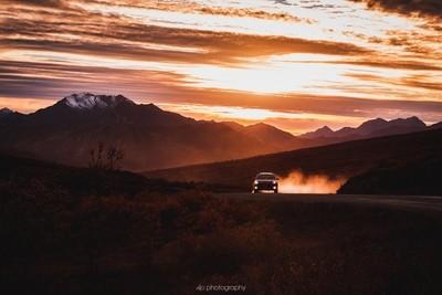 Winter Chasing Autumn, Denali in Sunset