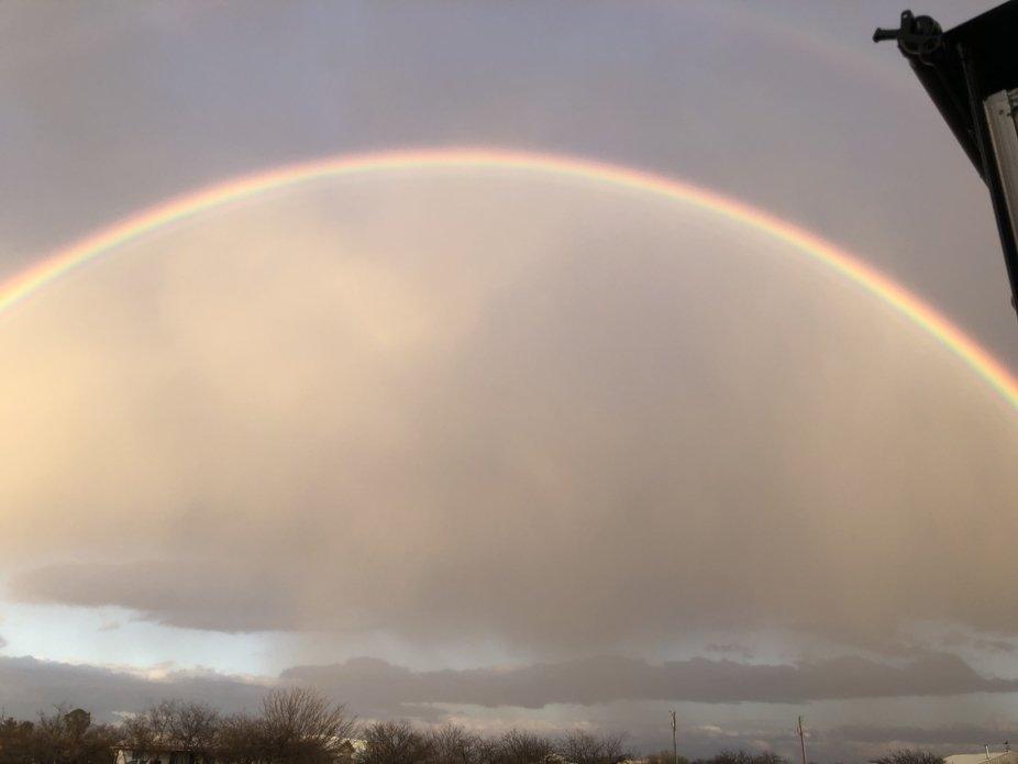 Winds blowing, rain fell , love the rainbows