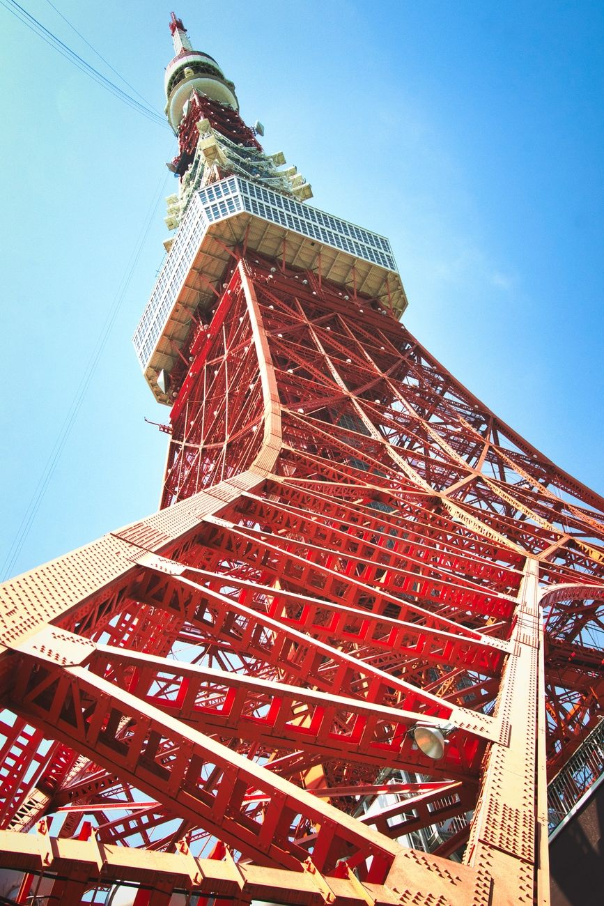 The Tokyo tower in Minako. This tower isn't used for broadcasting anymore since the skyscrapers block the signal.