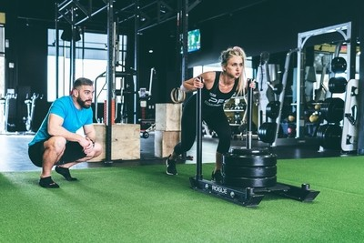 Female Workout with Coach