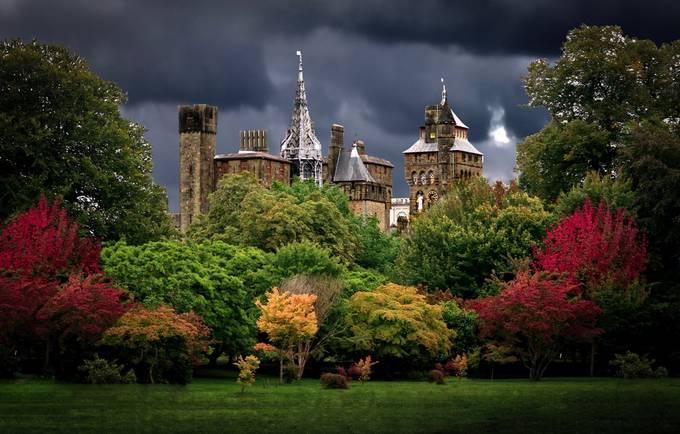 Castle colours by wanderingwales - Photogenic Villages Photo Contest
