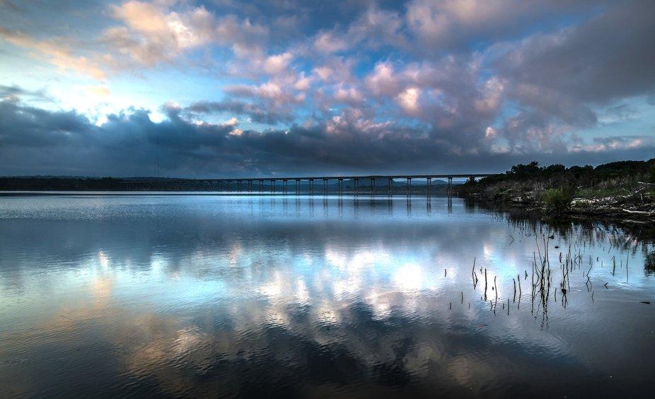 An early morning lake scene