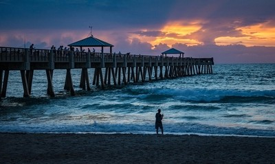 Fishing On and Under the Juno Beach Pier