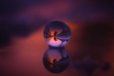 Reflections within a globe