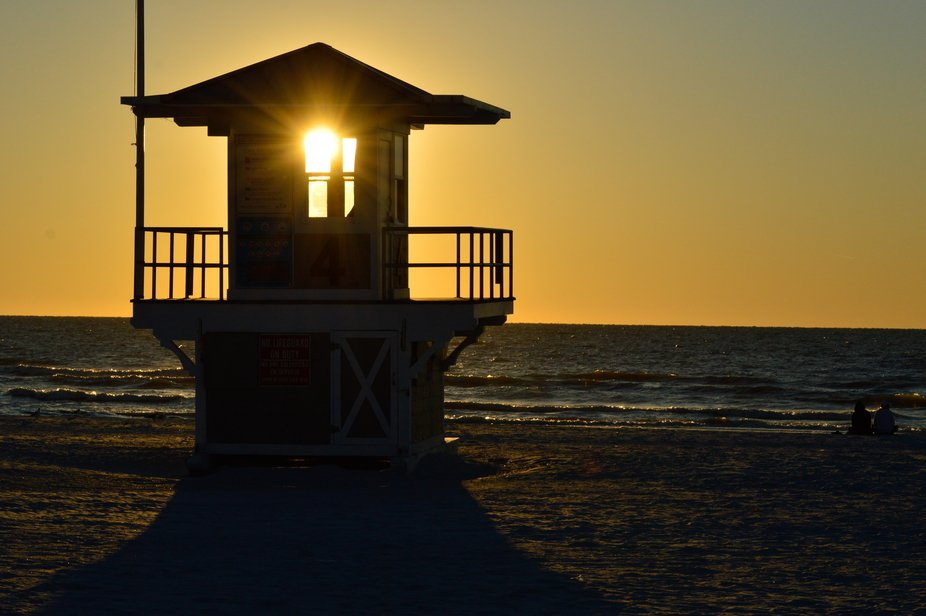 sunset at Clearwater