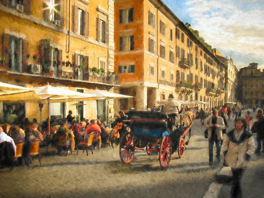 Piazza della Rotonda in Rome, Italy.