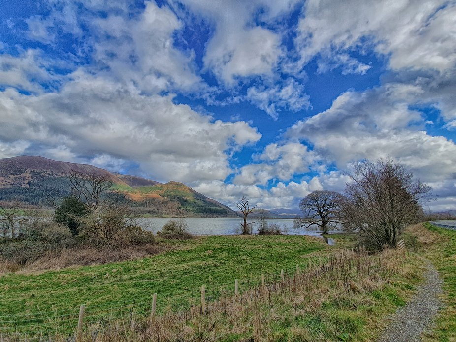 Lake District  Uk on a spring day of mixed weather
