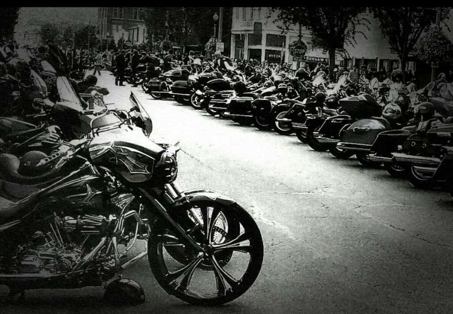 Motorcycles galore. Over 18000 that day.