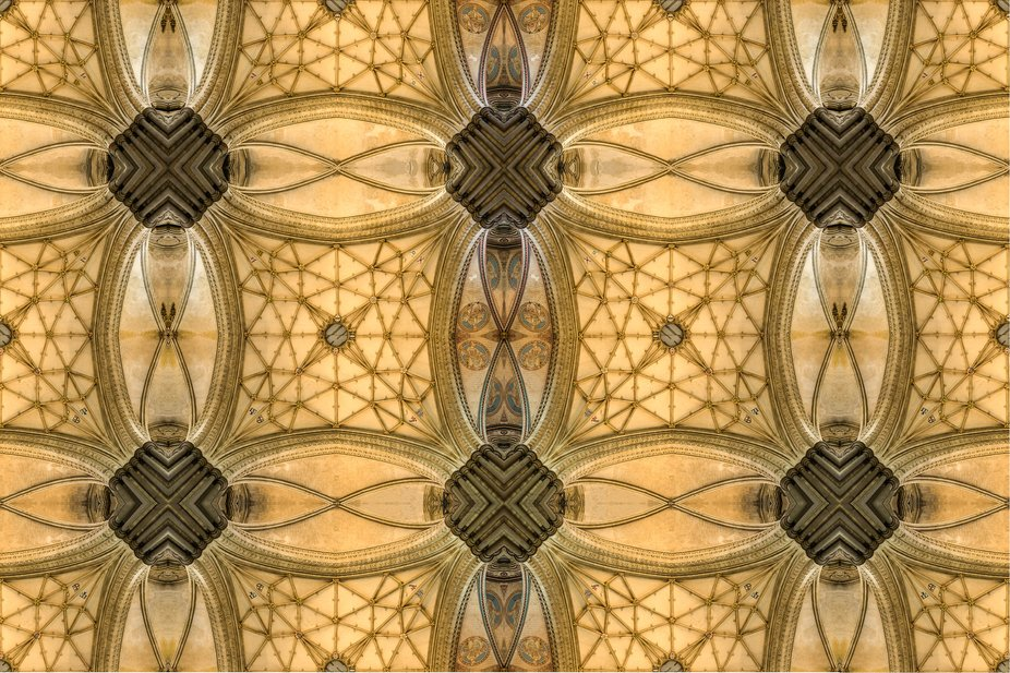 Part of my ARPS panel, a tiled image from Salisbury Cathedral