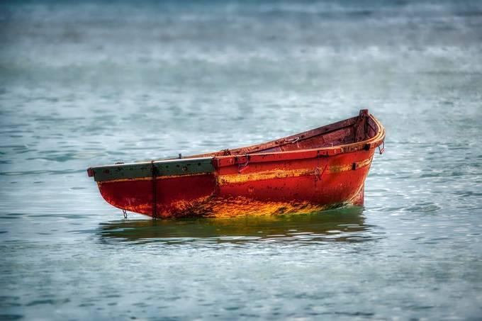Red Boat in the Water