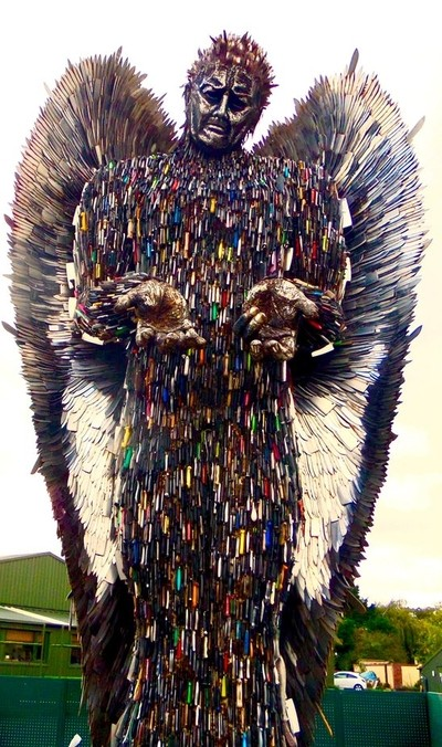 Save a life - throw away the knife - The Knife Angel