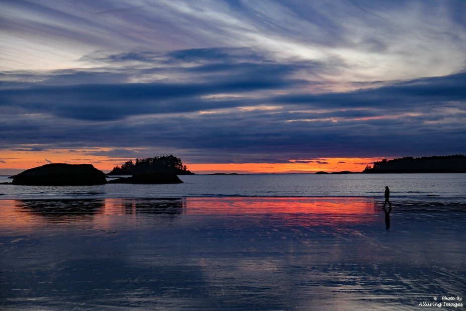 Just one of the spectacular sunsets taken on our winter vacation in Tofino