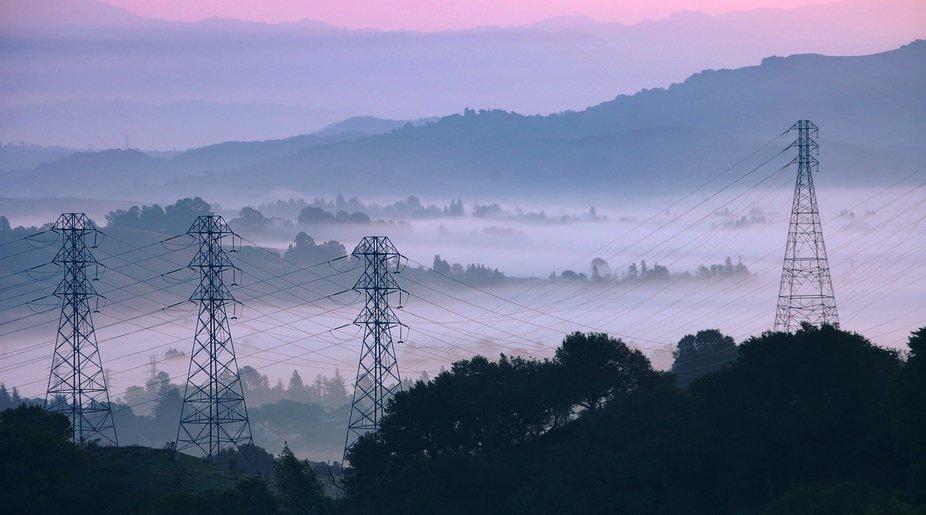 hazy wires