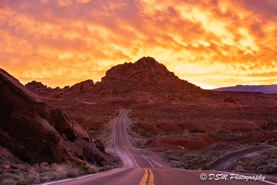 Sunrise at Valley of Fire State Park. NV.