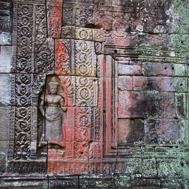 In one of the temples of the Angkor Wat complex