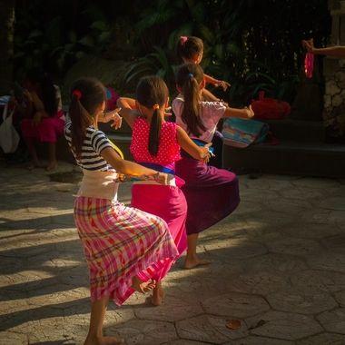 Balinese dancing school, Sanur, Bali