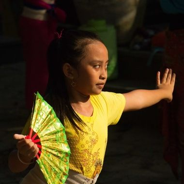 Girl at Balinese dancing school, Sanur, Bali