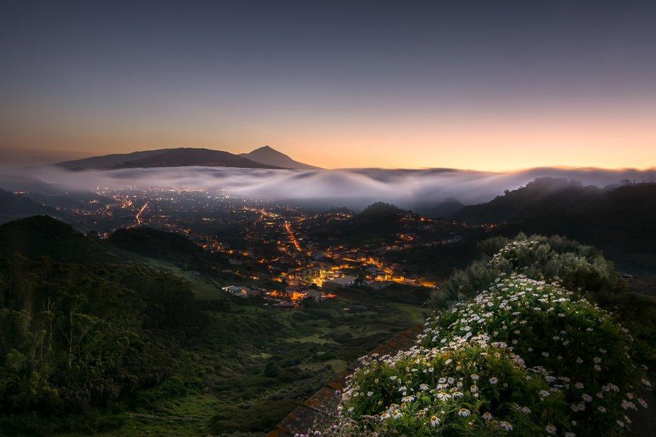 Desde la ciudad de La Laguna se pueden observar los mejores atardeceres mirando al Teide.