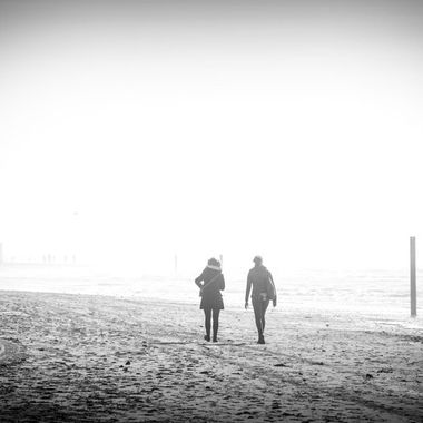 Walking the beach, Texel, Holland