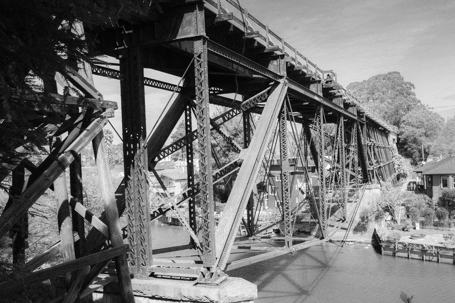 Went on  a photo walk around the beaches of Santa Cruz California. Found this trestle bridge that...