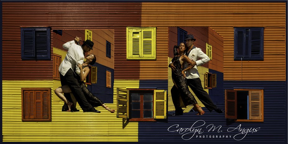 There is no dance as passionate as the tango.  La Boca is the most colorful  background in Buenos...