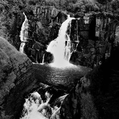 Pigeon River High Falls B&W