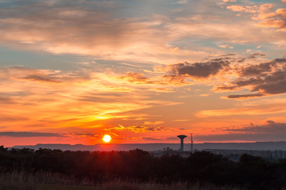 A coloured sunset